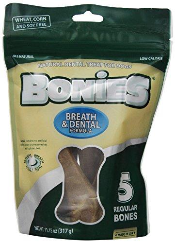 BONIES Natural Dental Bones Multi-Pack REGULAR (5 Bones  / 11.15 oz)