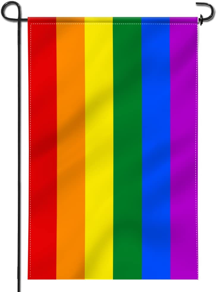 Anley Double Sided Premium Garden Flag Rainbow Gay Pride Decorative Garden Flags Weather Resistant Double Stitched 18 X 12 5 Inch Garden Outdoor