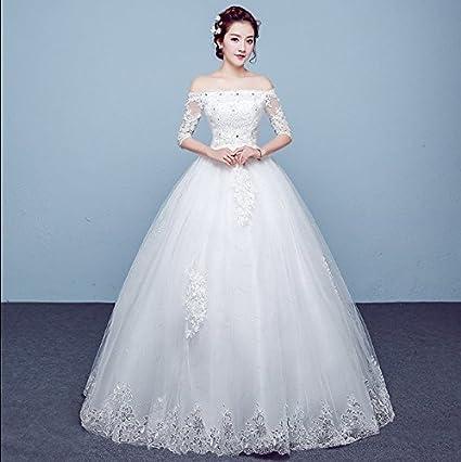 XC Novia Vestido de Novia Vestido de Novia Hermosa Princesa Vestido de Novia Vestido de Encaje