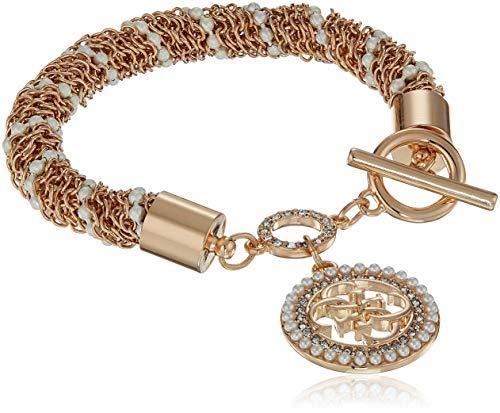 W/Stones Charm Bracelet, Gold, One Size ()