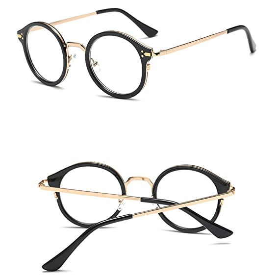 7b529ebd35f Amazon.com  CIDEROS Oversized Eyeglass Frames for Women Designer Womens  Fashion Clear Lens Round Circle Eye Glasses - Black  Sports   Outdoors