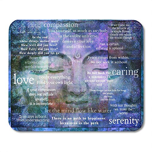 LIminglove Monk Inspirational Buddha Sayings with Buddhist Meditate Gaming Mouse Pad,Non-Slip and Dust-Proof Mouse,Funny Creative Mouse pad (Monk Mouse Pad)