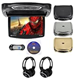 "Best Flip Down Dvd Players - Rockville RVD14BGB Black/Grey/Tan 14"" Flip Down Car DVD Review"