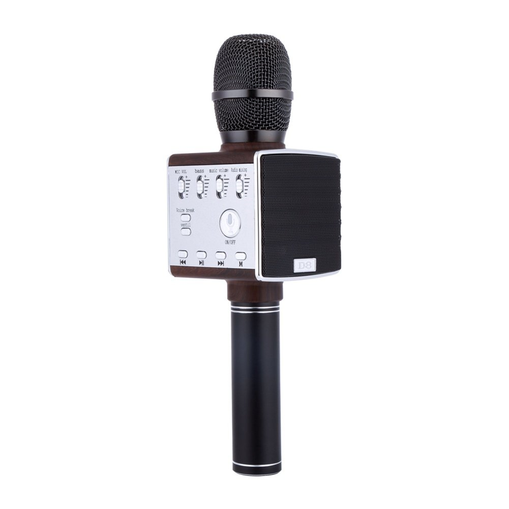 Greatlizard Wireless Karaoke Microphone With Speaker FM Bluetooth Professional Player Home Party Birthday For Iphone Android Smartphone