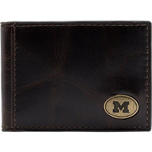 Michigan Wolverines Mens Leather - 4