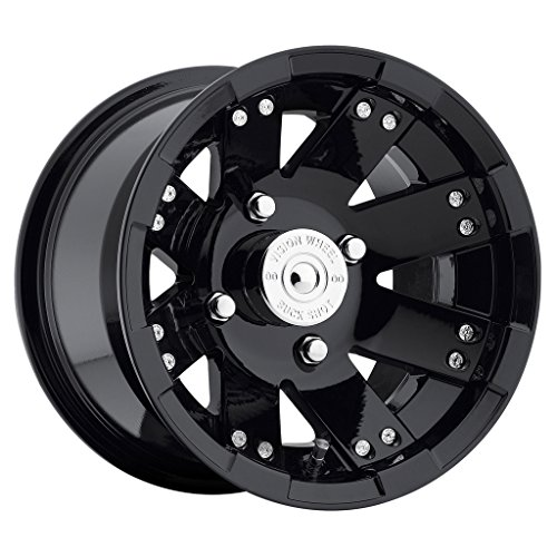 VISION WHEEL – 158 buckshot – 12 Inch Rim x 7 – (4×110) Offset (2.5) Wheel Finish – gloss black window machined face