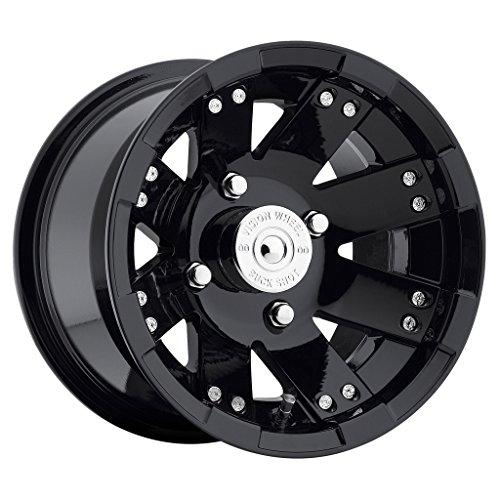 VISION WHEEL - 158 buckshot - 12 Inch Rim x 7 - (4x110) Offset (2.5) Wheel Finish - gloss black window machined - Face Big Rims