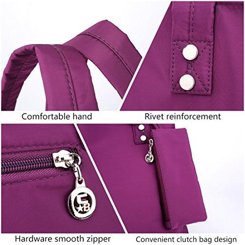 Alovhad Women Handbag Shoulder Bags Purse Waterproof Nylon Tote Travel hobo Bags Purse (Red) by Alovhad (Image #4)