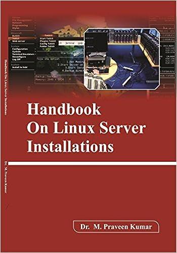 Buy Handbook On Linux Server Installations Book Online at