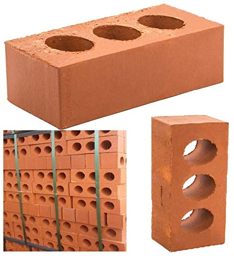 Perforated Class B Red Engineering Brick 65mm Length 215MM X Width 102MM x 200 Wienerberger