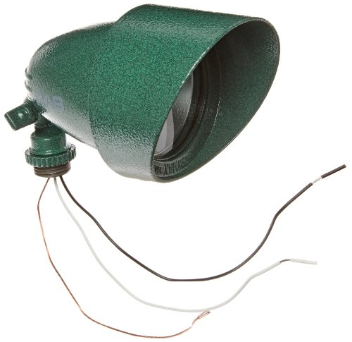 RAB Lighting QB1VG Quartz Bullet Floodlight, Aluminum, 75W Power, 1500 Lumens, 127V, Verde Green