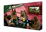 House of German Shepherds Dogs Playing Poker Canvas (18x24)