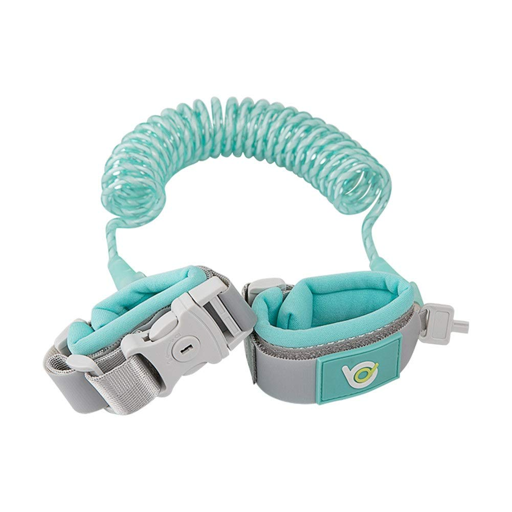 Anti Lost Wristband Safety Wrist Link Belt, 2M Baby Toddler Restraint Security Harness Strap Leash Walking Hand Belt Child Kids Travel Cares Safety Elastic Wire Rope (Color : Blue)
