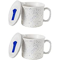 2-Pack CorningWare Meal Soup Mug with Lid Vented Microwave (20-Oz)