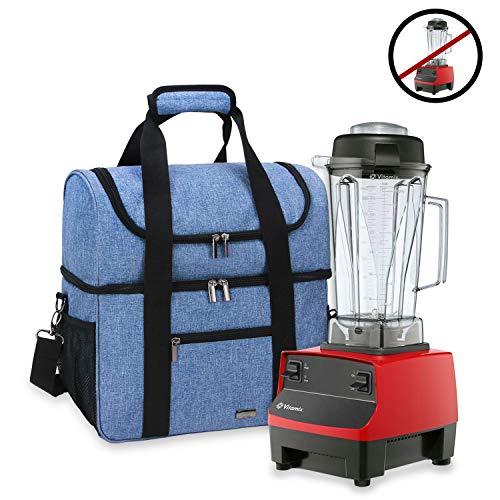 Luxja Carrying Case for 64 oz. Vitamix Blender, Travel Bag for Vitamix Blender and Accessories (Compatible with 64 oz. Vitamix Blender), Blue ()