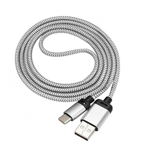 Price comparison product image GBSELL 2M USB-C USB 3.1 Type C Male Connector to Type A Male Data Cable For Samsung Galaxy S8 / S8 Plus (Silver)