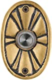 Waterwood Solid Brass Oval Flower Doorbell in Antique Brass