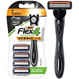 BiC Men's Hybrid Advance 4-Blade Disposable Razor, 4 refillable cartridges (1 Pack)