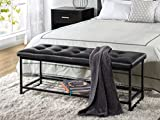Zinus Faux Leather Tufted / Hallway / Entry / Bed / 48 Inch