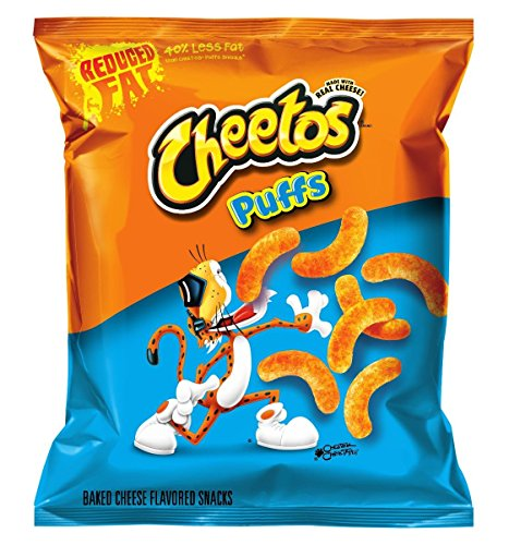 Cheetos Cheese Snacks, Jumbo Puffs, 0.875 Ounce (Pack of 104)