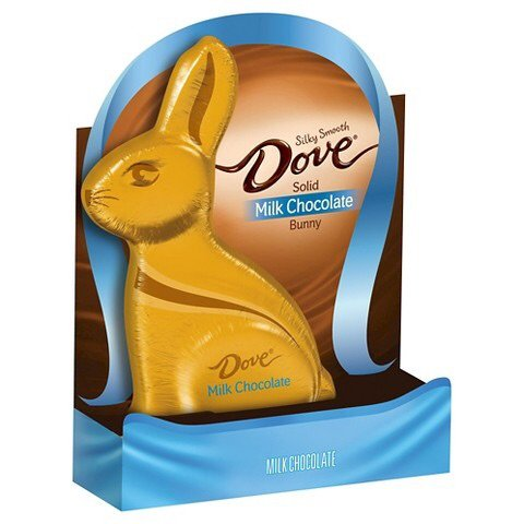 Dove Silky Smooth Solid Bunny, Milk Chocolate, 4.5-Ounce Boxes (Pack of 4)