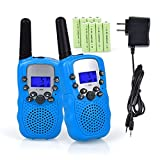 #3: Walkie Talkies for Kids, Funkprofi 2 Way Radios Toy Walkie Talkie 22 Channels 3 Miles with Rechargeable Batteries for Outdoor Adventures, Pack of 2 (Blue)