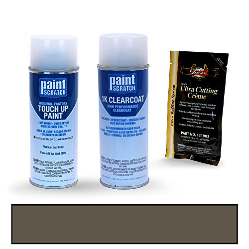 [2008 BMW 5 Series Platinum Gray Pearl A68 Touch Up Paint Spray Can Kit by PaintScratch - Original Factory OEM Automotive Paint - Color Match Guaranteed] (Factory Spray Paint)