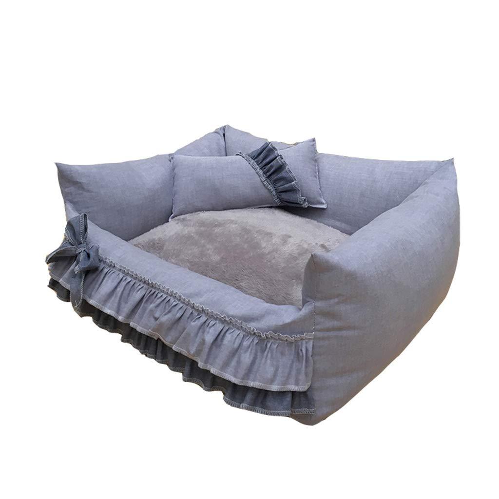 Zaino Pet Bed Cat and Dog Universal Nest Rimovibile e Lavabile Teddy Positivo e Negativo Four Seasons Princess Lace Light Light grigio cani (dimensioni   L.)