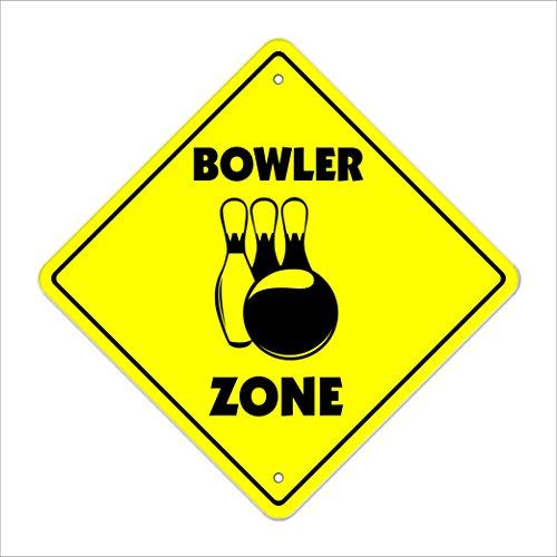Bowler Crossing Sign Zone Xing   Indoor/Outdoor   20