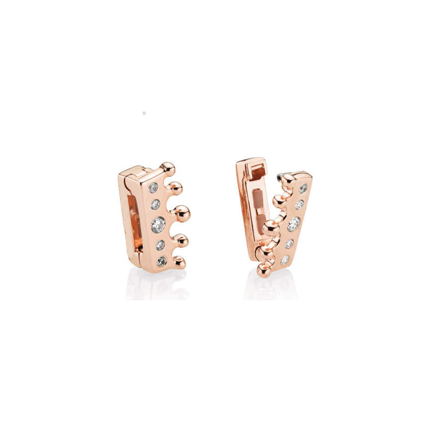 Silver Reflexions Clip Charms Love Heart Bead Fit Bracelet for Women DIY Jewelry,Hl089