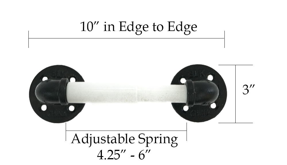 Spring Loaded Toilet Paper Holder - Wall Mounted - Includes Replacement Spindles (1, Black, Chrome Plated & White) by Piping Hot Art Works (Image #4)