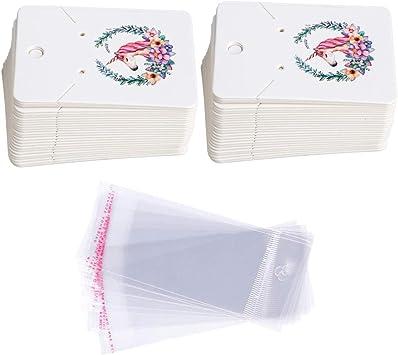 Amazon.com: Juego de tarjetas para pendientes, 100 unidades ...