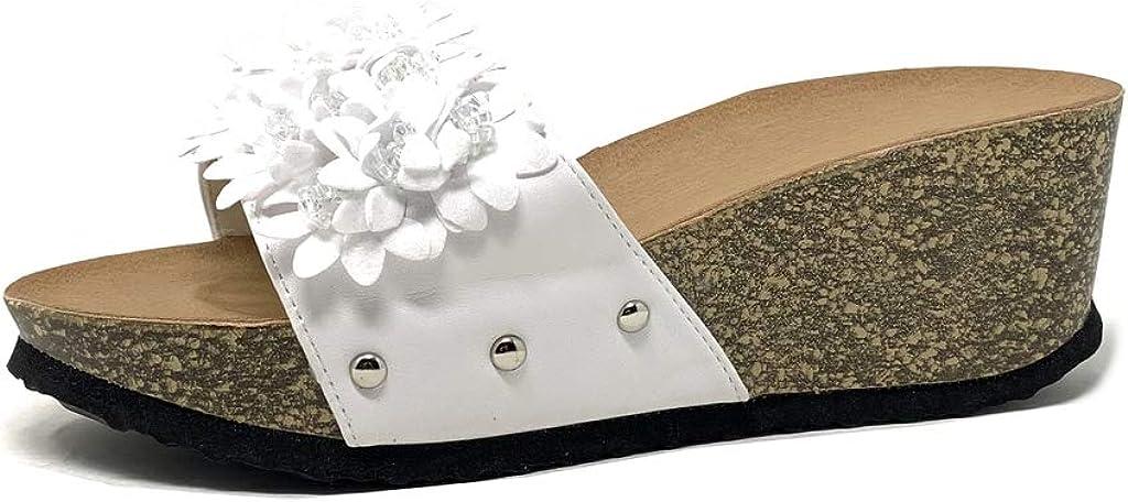 Noir 5 Chaussure Mode Espadrille Plateforme Confortable BCBG Femme Diamant Bijoux Corde Talon Compens/é Plateforme 4 CM LX190 T 39 Angkorly