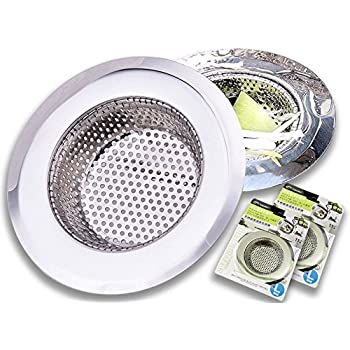 2pcs Stainless Steel Kitchen Sink Strainer Drain Basket 4 5 Replacement Bathroom Sink Strainer Stopper Small Metal Sink Drain Cover Voao
