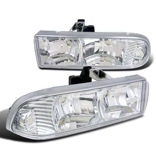 Spec-D Tuning LH-S1098-RS Chevy S10 Euro Clear Headlights Head Lamps Blazer