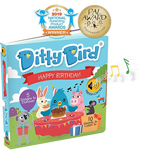 INTERACTIVE FIRST BIRTHDAY BOOK for 1 year old and Toddler. Toys for 1 year old boy girl gifts.Educational Learning Toys for babies. Musical Books for one year old. Great baby 1st birthday gift (Great Gifts For 1 Yr Old Boy)