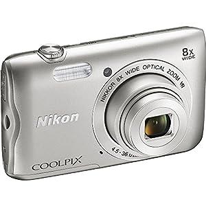 Nikon Coolpix A300 20.1MP 8x Optical Zoom NIKKOR WiFi Silver Digital Camera 26519B - (Certified Refurbish) by Nikon