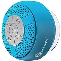 TaoTronics Enceinte Bluetooth sans Fil pour la Douche Haut-Parleur Stéréo Étanche IPX4, A2DP / AVRCP, Appels Mains-Libres, Microphone pour iPhone, Android et PC Tablette