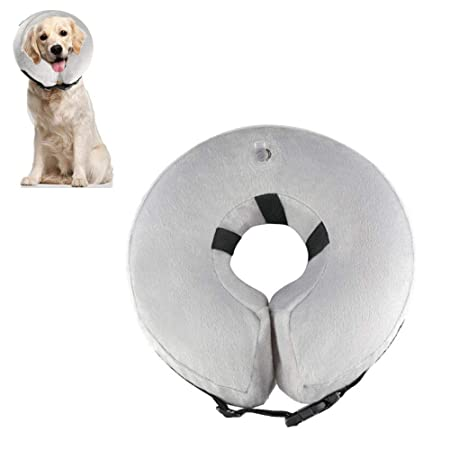 KOBWA Collar Hinchable para Mascotas, Protector Ajustable, Suave ...