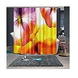 Best Gorgeous Jewelry Blinds - ANAZOZ Bath Curtain Eco-Friendly Polyester Multicolor Gorgeous Petals Review