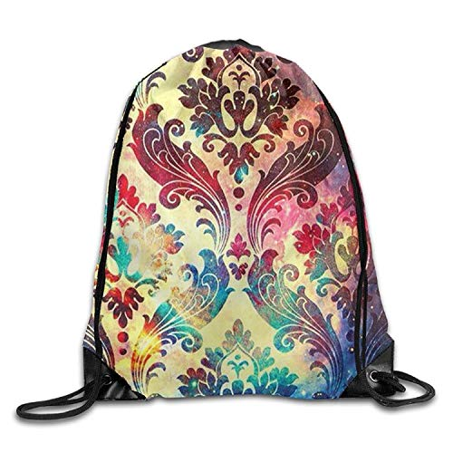 Beatybag 3D Print Drawstring Bags Bulk, Pretty National Characteristic Pattern Halloween Unisex Gym Drawstring Shoulder Bag Backpack String Bags -