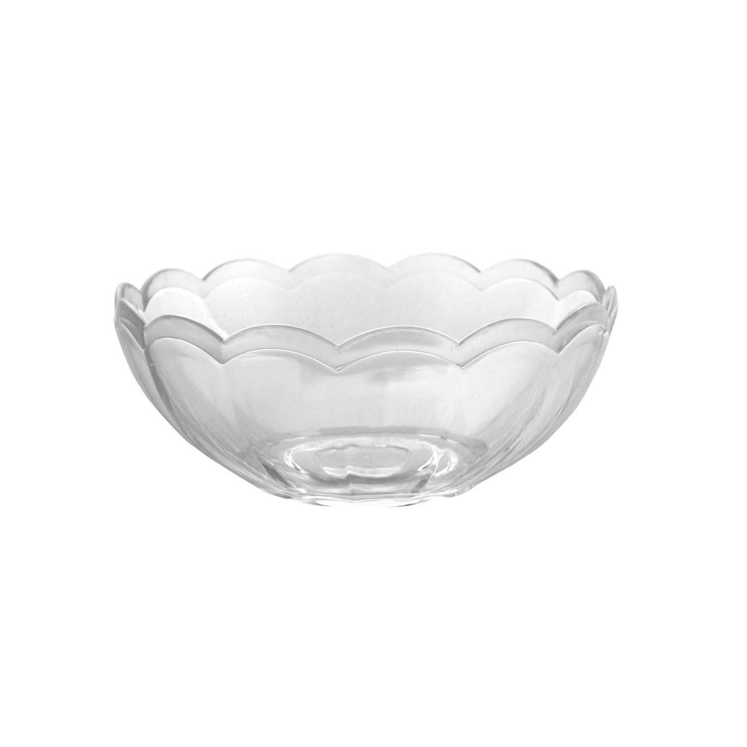 Party Essentials N084821 Plastic Snack Bowl, 8-Ounce Capacity, Clear (Case of 48)