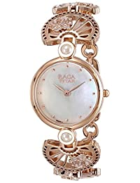 Titan Women's 'Raga Aurora' Quartz Stainless Steel and Brass Casual Watch, Color:Rose Gold-Toned (Model: 2567WM01)