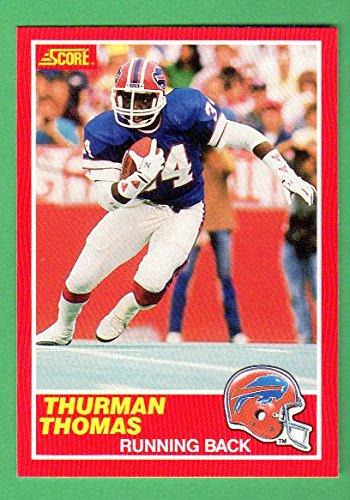 Thurman Thomas 1989 Score Football Rookie Card **Hall of Famer** (Near-Mint to Mint) (Bills)