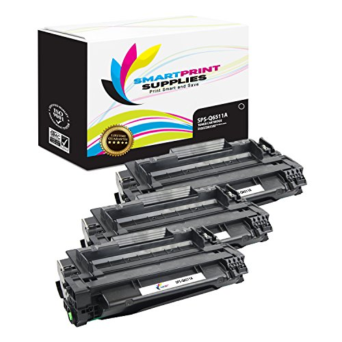 Smart Print Supplies Compatible 11A Q6511A Black Toner Cartridge Replacement for HP Laserjet 2400 2420 2430 Printers (6,000 Pages) - 3 Pack
