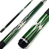 GSE Games & Sports Expert 58' 2-Piece Canadian Maple Billiard Pool Cue Stick(4 Colors, 18-21oz) (Green - 19oz)