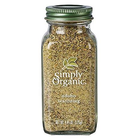 Simply Organic Adobo Seasoning Certified Organic Non Gmo 4 41 Oz Meat Seasoningss Grocery Gourmet Food Amazon Com