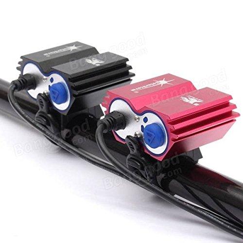 Calli Solarstorm u2 XM-L2 LED bici bicicleta faro faro con 18650 batería recargable