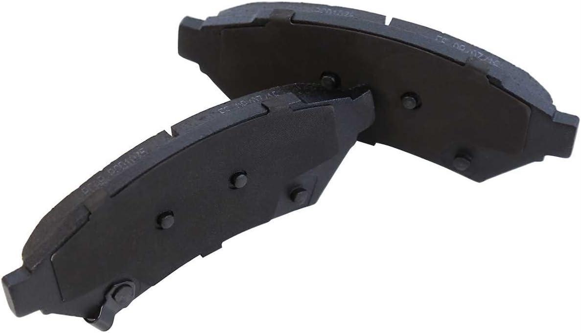 Auto Shack BRAKEPPK00160 Front /& Rear Brake Rotors /& 8 Performance Ceramic Brake Pads