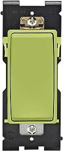 Leviton RE151-GS Renu Switch for Single Pole Applications, 15A-120/277VAC, Granny Smith Apple